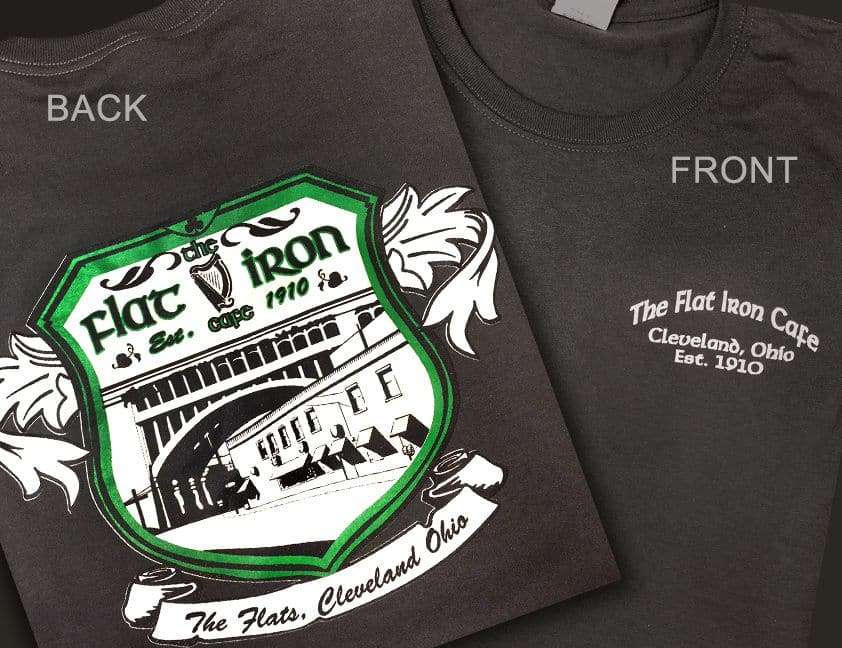 FLAT IRON Merchandise including T-shirts and Gift Certificates