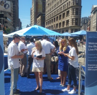 IBM Blueworks Live in Flatiron Today Pitching Cloud Services for Business Process Flow and Management