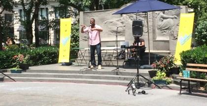 Poet  Jivepoetic Droopist performs in MSP.
