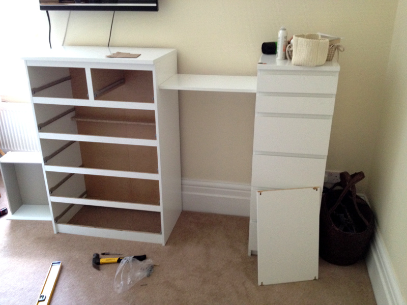 Ikea Malm Drawers Besta Shelf Hack Flat Pack Dan Limited