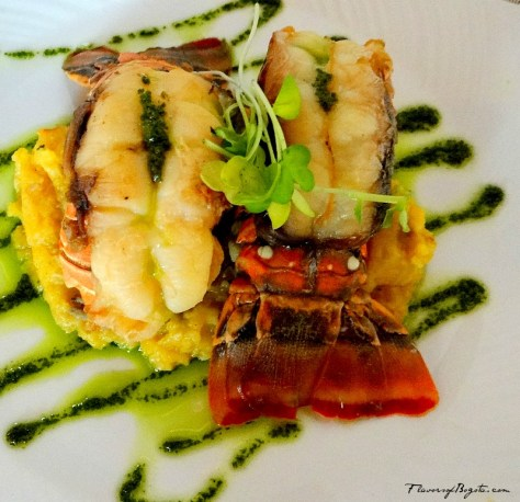 Baked Lobster tail Alma Cartagena