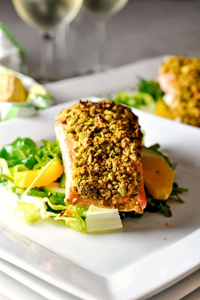 Pistachio crusted salmon flavour and savour for Pistachio crusted fish