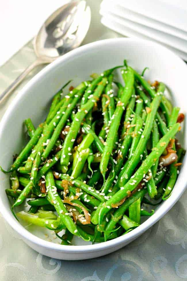 ... up a bit and these Sesame Ginger Green Beans were the result tonight