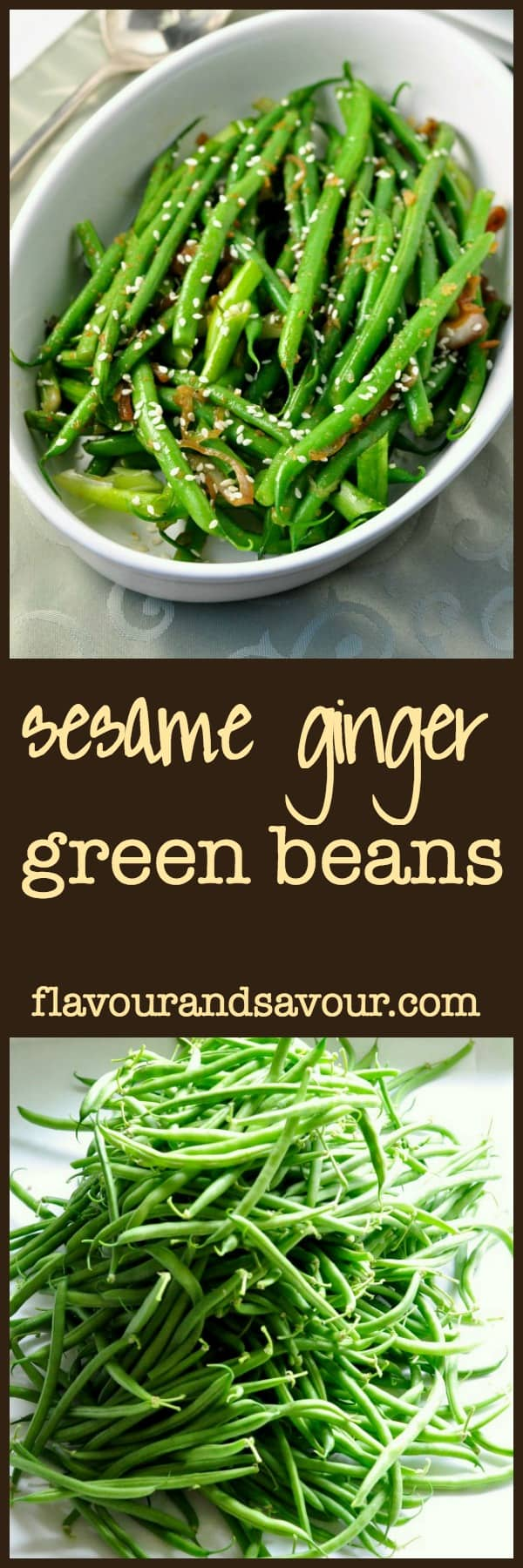 Sesame Ginger Green Beans. A quick and easy side dish. |www ...
