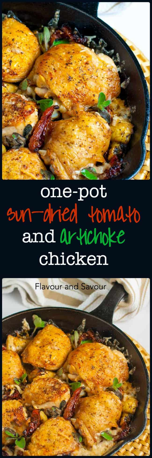 Baked Sun-Dried Tomato and Artichoke Chicken - Flavour and ...