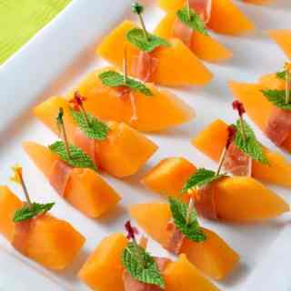Prosciuitto with Melon and Mint in Tuscany  www.flavourandsavour.com