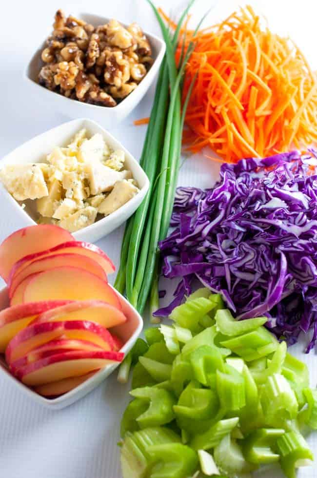 Blue Cheese, Apple and Walnut Slaw. This salad is full of Vitamin C ...