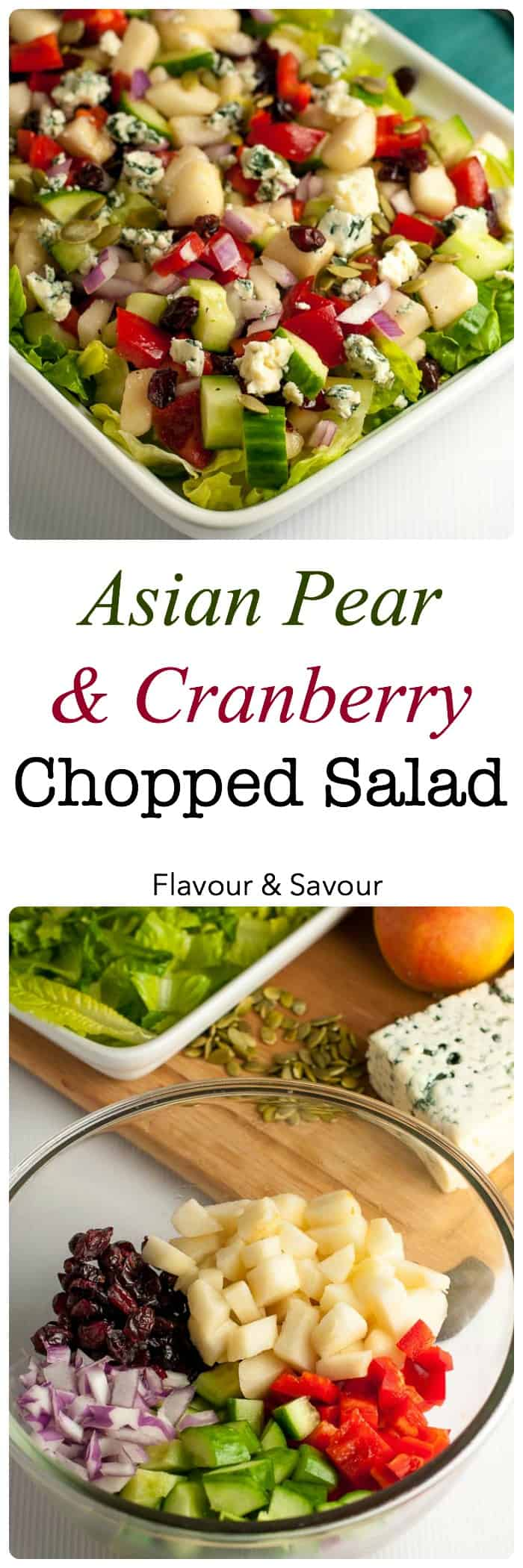 Asian Pear And Cranberry Chopped Salad Flavour And Savour