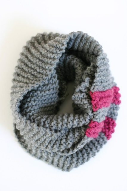 Easy Knitting Patterns For Chunky Yarn : The Katy Cowl - An Easy Chunky Knit Pattern - Flax & Twine
