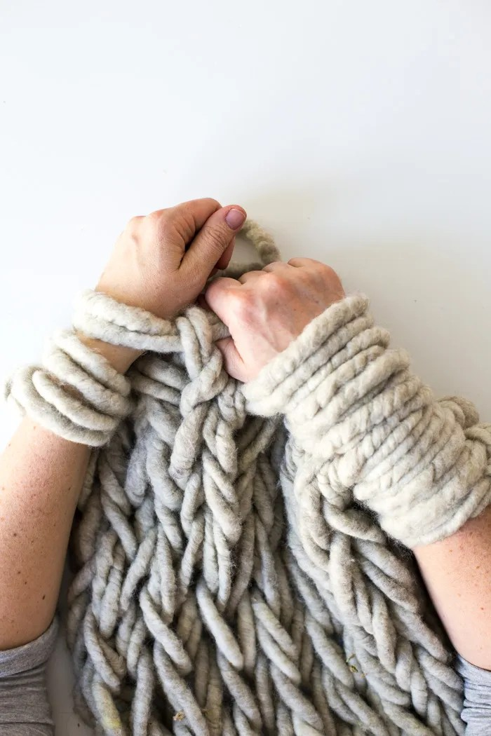 Arm Knitting Fabric : Six ways to make your arm knitting tighter flax twine