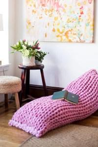 Lazy Days Lounger Arm Knit Pillow Pattern - Flax & Twine