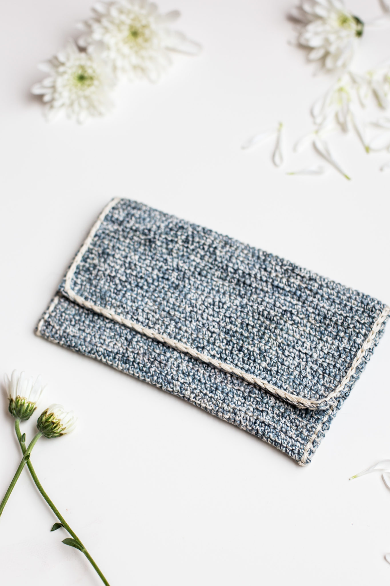 Crochet Clutch Pattern : Marled Crochet Clutch Pattern by Anne Weil of Flax & Twine