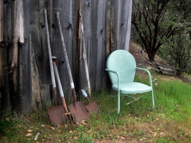 Grandma's motel chair and grandpa's old tools