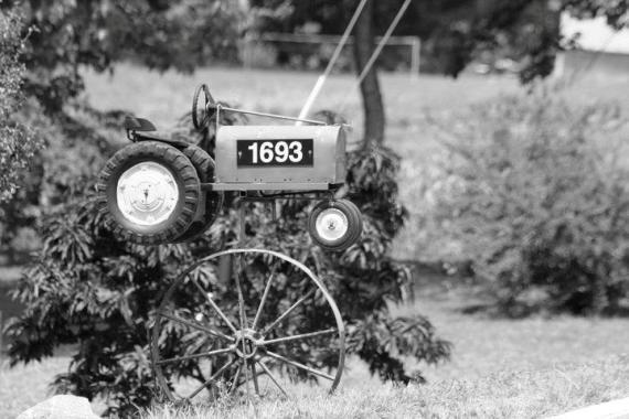 Jane Koranda's tractor mailbox