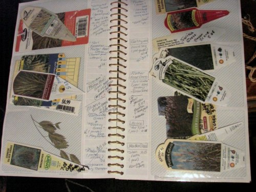 Jeanne Sammons' plant record book