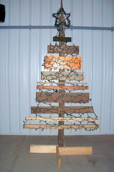Lumber Christmas tree
