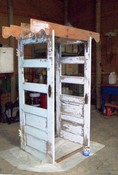 Sue Gerdes' door arch in process