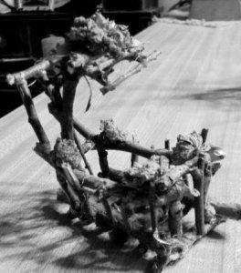 Cindy Murariks handmade twig cradle