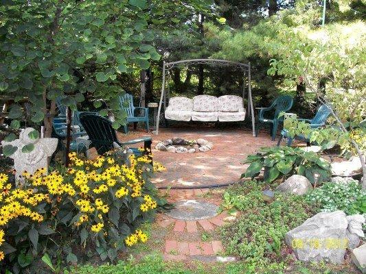 The brick patio