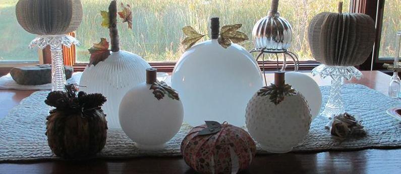 Glassy, classy pumpkin globes