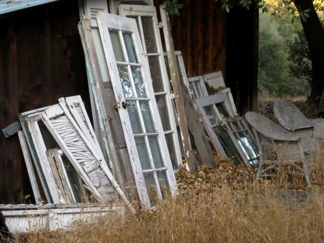 I'm afraid that. yes, my stash of old doors, windows and shutters was found on trash day!