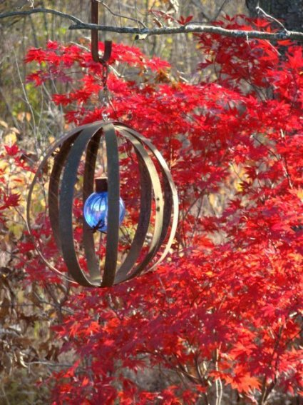 Sphere made from barrel rings