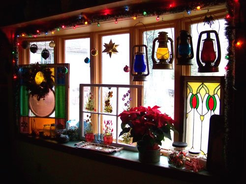 Julie Brown's colorful and spectacular bay window