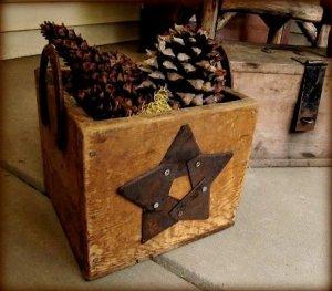 Kirk Willis's pine cone crate