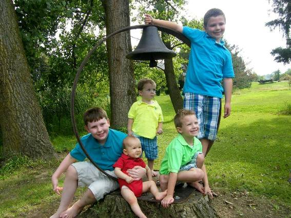 Barb Buckley's five grandsons love her bell!