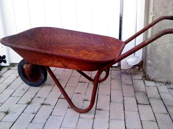 Denise Allen's lovely rusty barrow