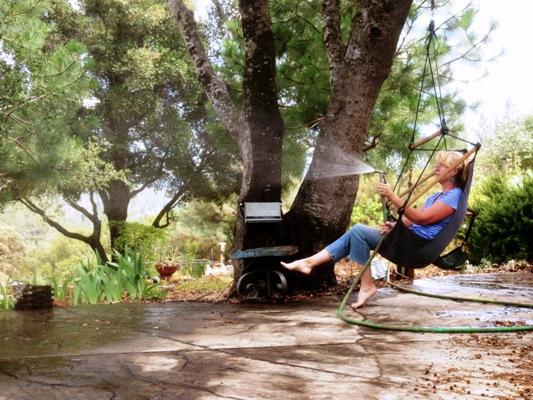 Puttering in the garden