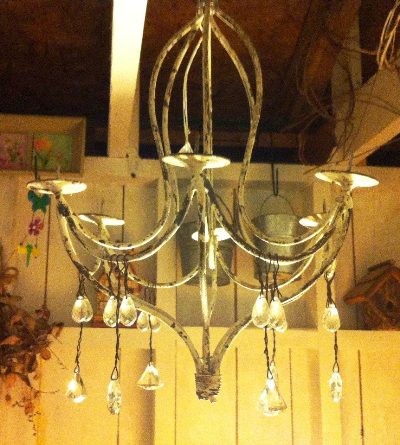 Susan Moxley's chandelier find