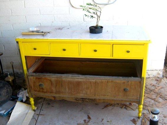 Brian Stephan's dresser before