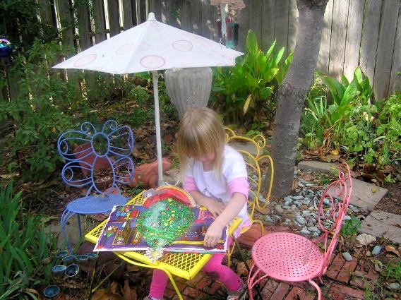 Sydney Minor's tiny garden furniture