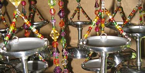 Make a chandelier-style wind chime