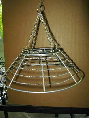 This basket was hung up to make the work easier