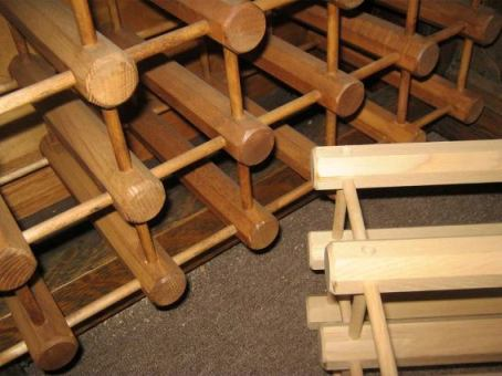 The staining process for racks