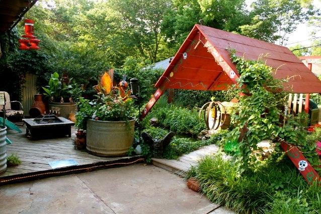 Art and Barb's fun entrance to the garden