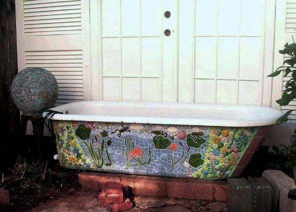 Becky's tub in place