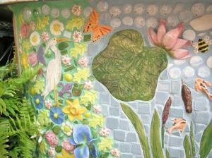 Each tile piece was handmade and fired in a kiln