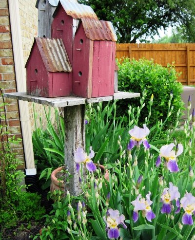 Jeanie Merritt's birdhouse condo