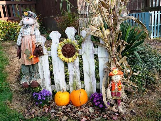 Carol Winger Hall's quaint fence section