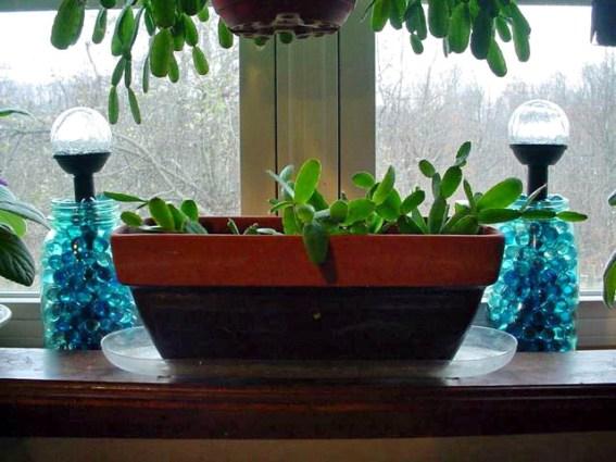Karen Settles uses indoor solar jars