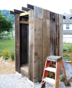 Dreama Bender outhouse project Before