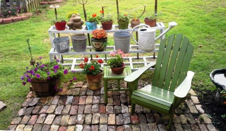 Billie Hayman's orderly vignette is also a seating area