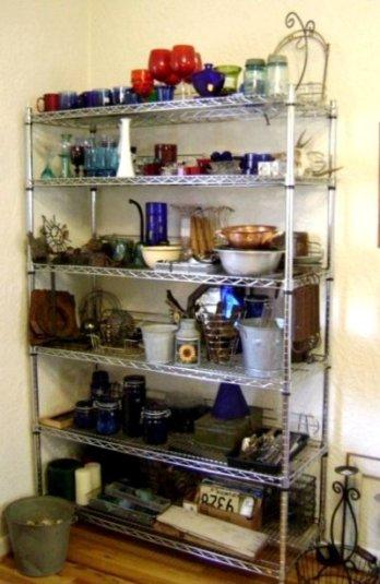 'Art supply' shelves