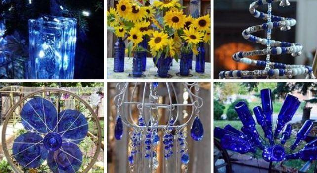 Marie's cobalt garden crafts