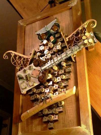 Bogdan Dabrowski's  'A joyful owl' of metal scrap