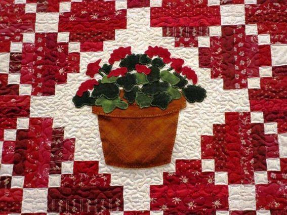 Jeanne Sammons geranium quilt