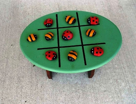 Mary Everett used lady bugs and bees as a theme for her game